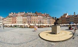 集市广场在华沙,波兰,欧洲 免版税图库摄影