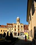 集市广场在布拉索夫, Transilvania 免版税库存照片