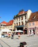 集市广场在布拉索夫, Transilvania 免版税库存图片