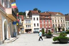 集市广场在布拉索夫(Kronstadt), Transilvania,罗马尼亚 库存图片