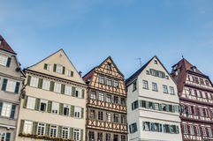集市广场在蒂宾根,德国 免版税库存图片