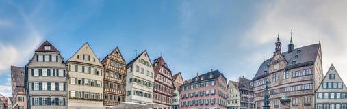 集市广场在蒂宾根,德国 库存图片
