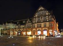 集市广场在巴特洪堡 德国 免版税库存照片