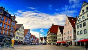 集市广场在Biberach der Ris德国 免版税图库摄影