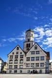 集市广场在Biberach der Ris德国 库存图片