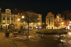 集市广场在Walbrzych 波兰 免版税库存图片
