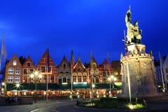 集市广场的北边的夜图象 免版税库存照片