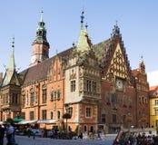 集市广场的古镇霍尔在Po的弗罗茨瓦夫市 免版税图库摄影