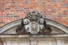 集市广场的,在门面,弗罗茨瓦夫,波兰的安心哥特式弗罗茨瓦夫老城镇厅 库存图片