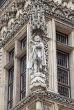 集市广场的,弗罗茨瓦夫,波兰哥特式弗罗茨瓦夫城镇厅 免版税库存图片