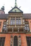 集市广场的,弗罗茨瓦夫,波兰哥特式弗罗茨瓦夫老城镇厅 免版税库存图片