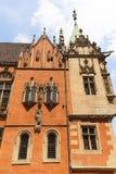 集市广场的,弗罗茨瓦夫,波兰哥特式弗罗茨瓦夫老城镇厅 库存图片