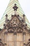 集市广场的,装饰安心,弗罗茨瓦夫,波兰哥特式弗罗茨瓦夫老城镇厅 库存照片