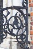 集市广场的,金属篱芭,弗罗茨瓦夫,波兰哥特式弗罗茨瓦夫老城镇厅 库存照片
