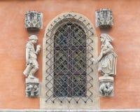 集市广场的,门面,弗罗茨瓦夫,波兰哥特式弗罗茨瓦夫老城镇厅 图库摄影