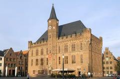 集市广场的, Kalkar,德国市政厅 库存图片