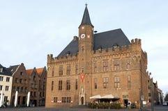 集市广场的, Kalkar,德国市政厅 免版税图库摄影
