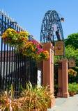 集市广场门在维多利亚,不列颠哥伦比亚省 图库摄影