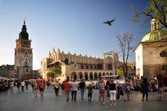 集市广场,克拉科夫 库存图片