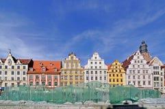 集市广场, Wroclaw,波兰 免版税库存照片