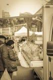 集市日在日内瓦,瑞士 免版税库存照片