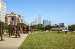 集市雕塑 免版税库存图片