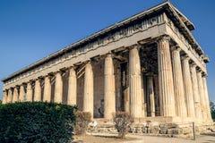 集市, Hephaestus寺庙在雅典 库存照片