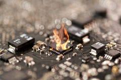 集成电路烧伤 库存图片