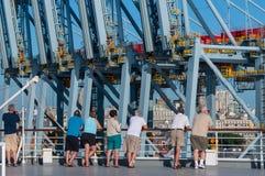 集装箱码头在蒙得维的亚 库存图片
