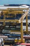集装箱码头在巴塞罗那 图库摄影