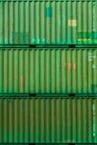 集装箱码头片段 免版税库存图片