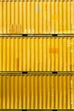 集装箱码头片段 库存图片