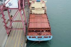 集装箱船 免版税库存照片