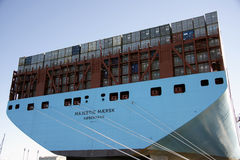 集装箱船 库存照片