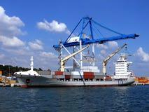 集装箱船1 库存图片