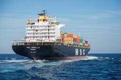 集装箱船MSC米雷拉 库存图片