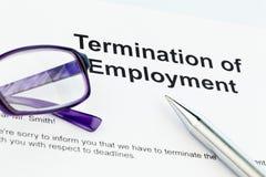 雇主英语终止 免版税库存照片