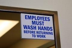 雇员现有量必须洗涤 免版税库存图片