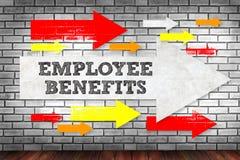雇员福利供以人员工作在片剂技术通信 免版税库存图片