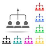 雇员象的基本方向 配合多色的象的元素 优质质量图形设计象 简单的象fo 库存例证