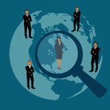 雇员,补充,人,资源,选择,采访,分析, apps 皇族释放例证