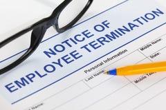 雇员终止通知  免版税图库摄影