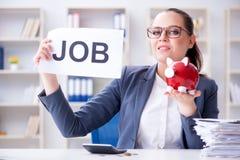 雇用新的雇员的女实业家在办公室 免版税库存照片