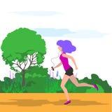 雍妇女赛跑的传染媒介例证 库存例证