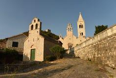 雍容圣玛丽教会和圣徒Kosmas和Dami 库存照片