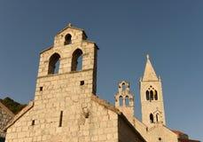 雍容圣玛丽教会和圣徒Kosmas和Dami 库存图片