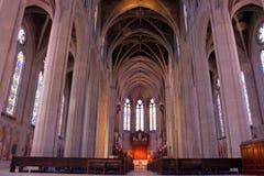 雍容大教堂,旧金山,加利福尼亚,美国的储蓄图象 免版税图库摄影