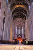 雍容大教堂,旧金山,美国 免版税图库摄影