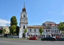 雍容教会或Baratia教会圣玛丽在布加勒斯特,罗马尼亚 免版税图库摄影