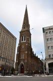 雍容教会,尤蒂卡,纽约州,美国 免版税库存照片